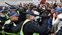 10 arrested as police break up London...