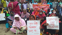 Workers of Savar factory stage sit-in...