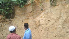 Hill Cutting in Cox's Bazar: 2 workers...