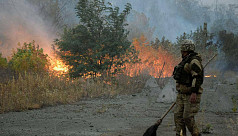 Eight killed in Ukraine forest fires