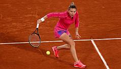 Halep punishes Anisimova to reach last...