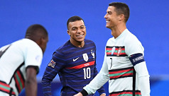 France and Portugal in goalless...