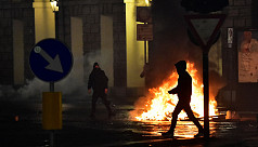 Protesters clash with Italian police...
