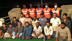Coast Guard rescues 14 lighter vessel sailors from sea