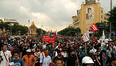 Protesters gather ahead of pro-democracy...