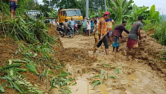 Landslide halts communication in Rangamati