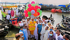 Sampan procession held in Chittagong to save Karnaphuli