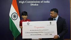 Bangladeshi boy wins global art...