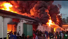 Fire ravages shoe factory in...