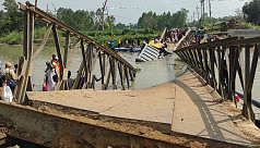 Bridge collapses, drops truck into river in Tangail