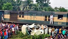 3 of a family among 4 killed as train rams car in Jessore