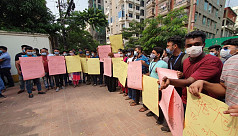 NSU students protest demanding 30% waiver of tuition fees