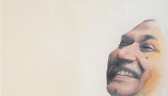 Bangabandhu reflected on canvas