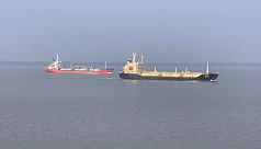 Ships sail Mongla port's newly dredged channel