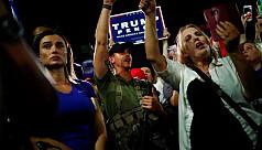 Trump supporters protest outside Arizona...