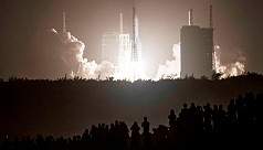China launches Moon probe to bring back...
