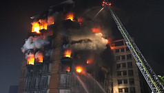 Fire at 10-storey building in