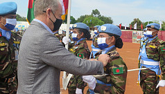 861 Bangladeshi peacekeepers get UN medal in South Sudan mission