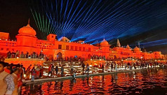 Indian holy city Ayodhya lights record...