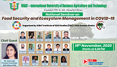 IUBAT holds seminar on food security, ecosystem management