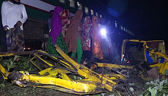 Train-truck collision kills one in Jessore, halts communications for six hours