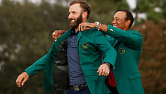 Emotional Johnson wins Masters