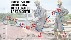 Private sector's demand for credit wanes...