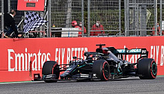 Hamilton wins at Imola as Mercedes clinch constructors' title