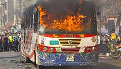 Nine cases filed over arson attacks on buses in Dhaka