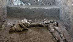 Pompeii's ruins yield scalded bodies of rich man and slave