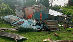 Powerful cyclone leaves trail of destruction...