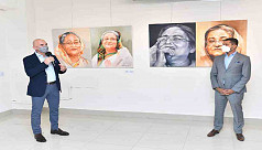 Two-month long art show on Hasina ends with tributes to Bangabandhu