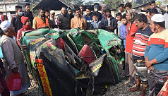 3 of a family killed as train hits auto-rickshaw in Comilla