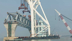 Padma Bridge: 6 kilometres visible with 40th span installed