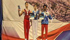 Young gymnast Rafi wins bronze in...