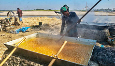Cane molasses production in full swing as winter comes to Tangail