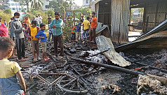 Fire kills child, burns down 9 shops in Comilla