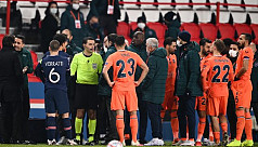 Basaksehir, PSG walk off after alleged...