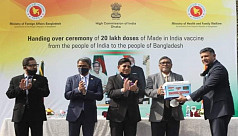 Gift vaccine from India handed over to Bangladesh