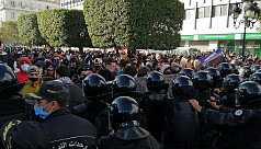 Hundreds protest police repression in Tunisia