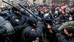 Russia police violence under review after 3,300 protesters held