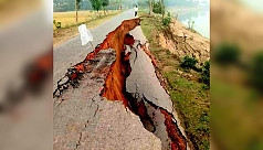44m road washed away by Kushiyara River in Sylhet