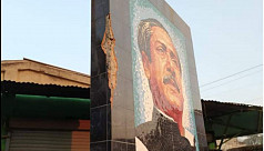 Man arrested for vandalizing Bangabandhu mural in Thakurgaon