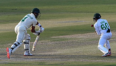 Proteas lead by 29 runs after late collapse