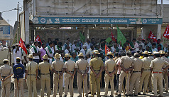 Huge police deployment counters Indian farmers protests