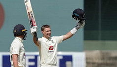 Root hits double ton as England reach...