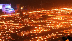 Narail pays homage to Language Movement martyrs by lighting a million candles