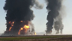Fire destroys 100 fuel tankers on Afghanistan-Iran border