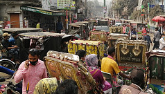 Unregistered vehicles hog narrow streets of Mymensingh city