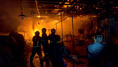 Fire at Karwan Bazar Hasina Market